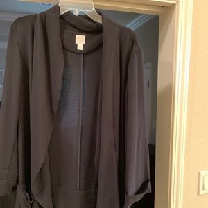 Black cardigan blazer